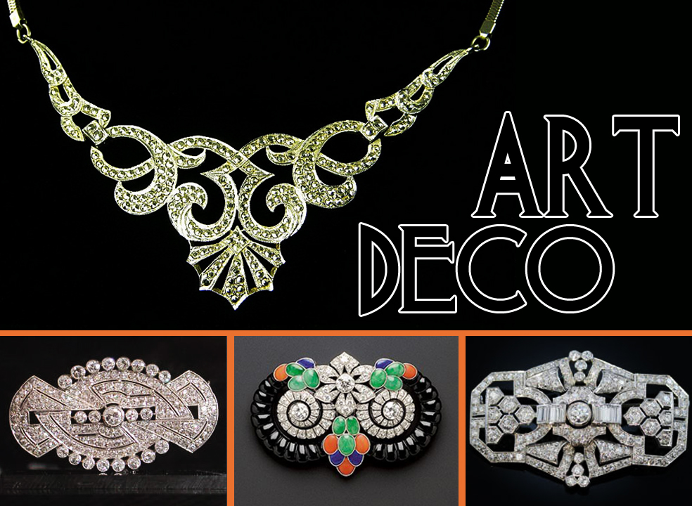 Art deco everything about vintage costume jewelry for Art deco costume jewelry